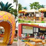 [南投景點] 桂花田鳳梨主題餐廳~ 鳳梨造型結合貨櫃彩繪,可愛又吸睛
