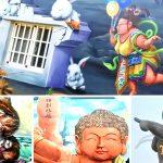 [雲林景點] 四湖萡子寮好神氣3D藝術彩繪村~ 中國神話故事為主題,KUSO風好有趣
