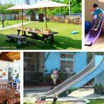 [嘉義番路] 德蘭日式庭園簡餐~ 幼兒園老宅改建,大象彩繪滑梯好吸睛