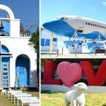 [台中大坑] 橋王花園酒店~ 波音737客機、藍白地中海風格教堂,浪漫拍照新亮點!!