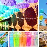 [彰化和美] 彩虹屋卡里善之樹~ 漫步繽紛傘巷超浪漫,彩虹傘樹吸睛又好拍