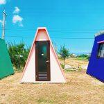 [彰化線西] 七彩繽紛三角神秘小屋,宛如合掌小聚落,熱門IG打卡點